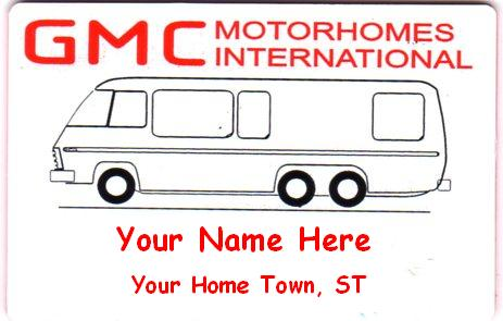 GMC International Name tag