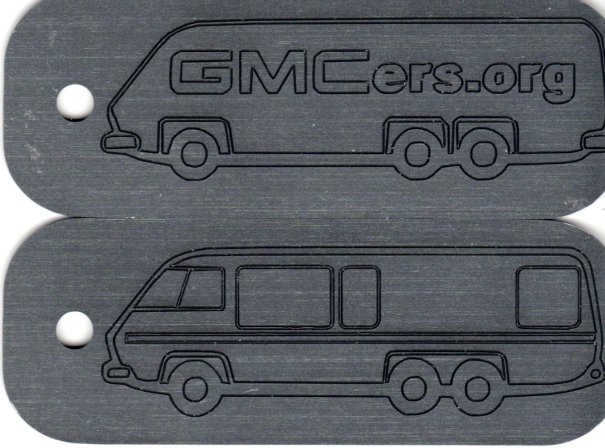 GMC Motorhome Key Tag