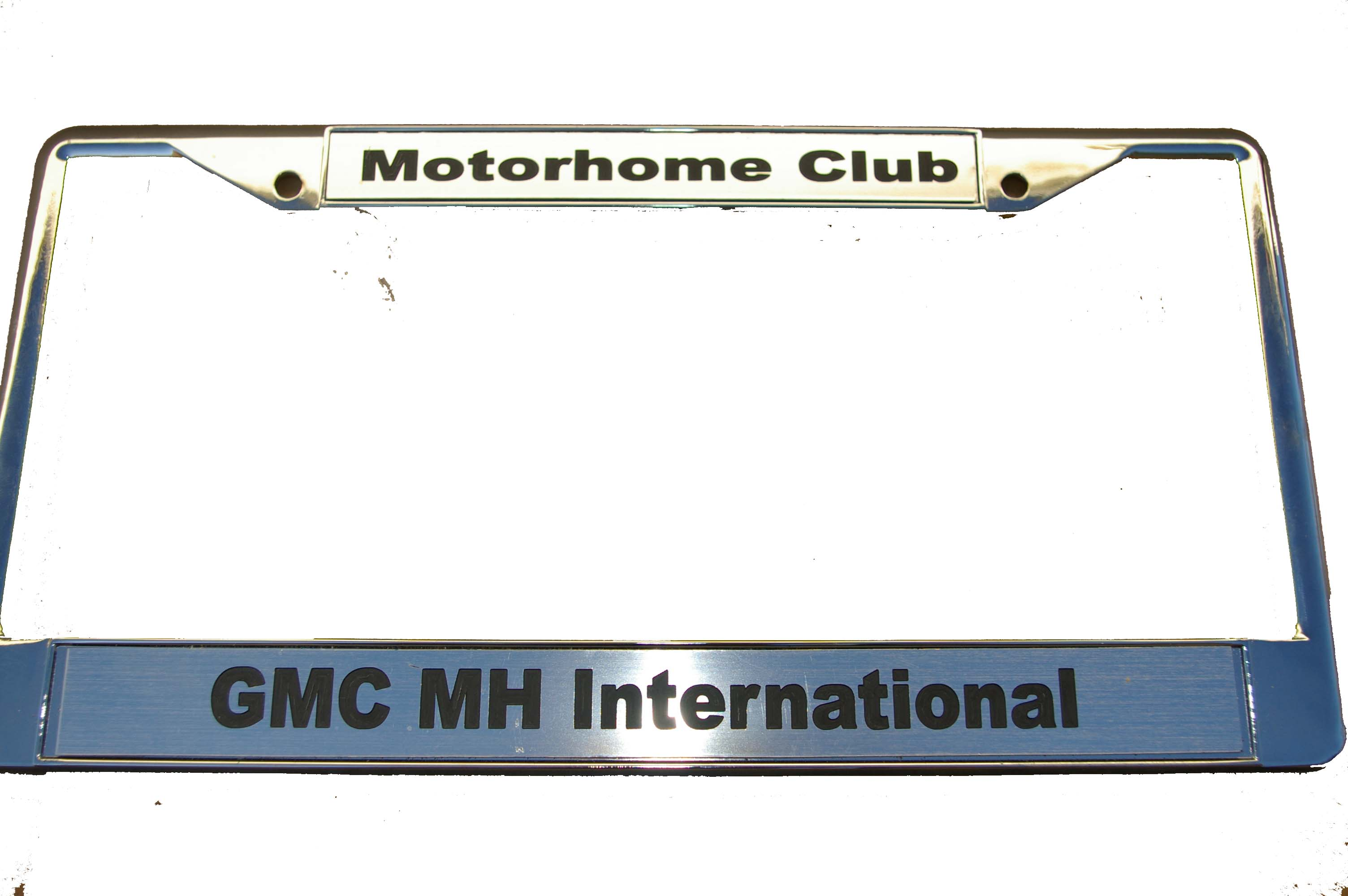 Chrome Club License Plate Frame