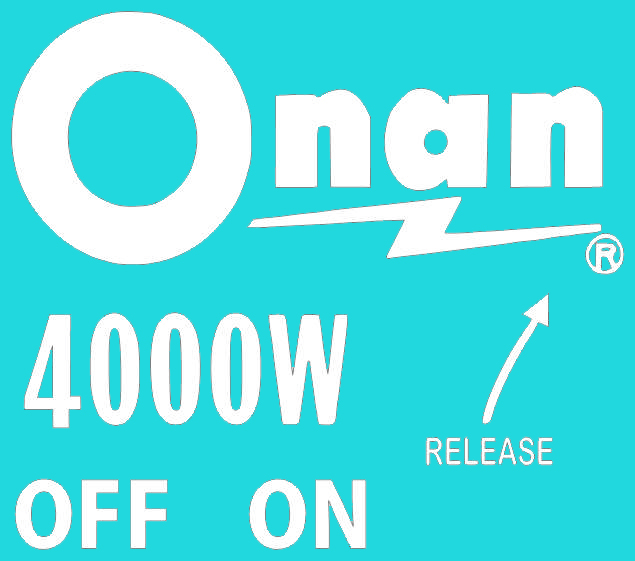 Onan 4000 Labels